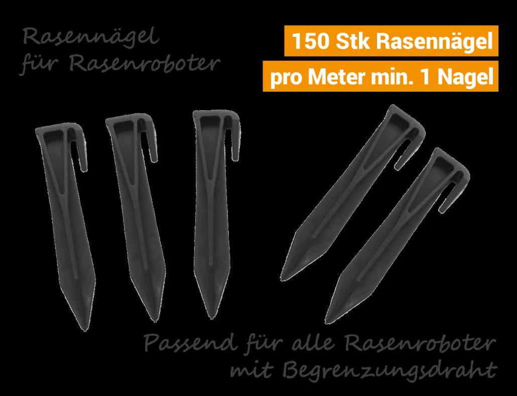 Rasennägel-Kabelhaken Rasenroboter-Mähroboter Viking Robomow Ambrogio Stiga