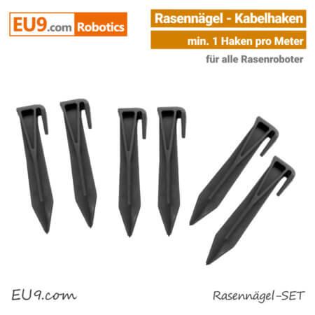 Rasennägel-Kabelhaken Viking, Robomow, Stiga, Ambrogio, Husqvarna Automower Rasenroboter EU9
