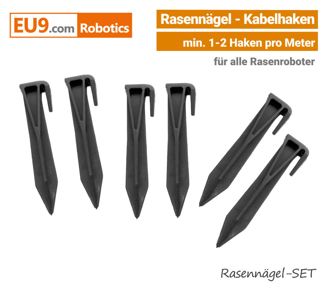 Rasennägel Kabelhaken Viking, Stihl, Robomow, Stiga, Ambrogio, Husqvarna Automower, Wiper Mähroboter EU9