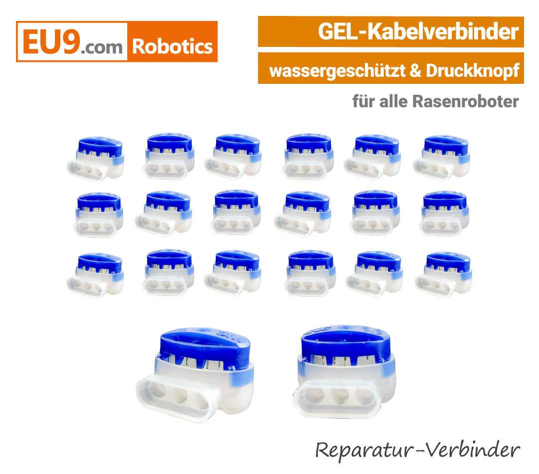 Rasenroboter-Mähroboter Gel-Drahtverbinder Kabelverbinder Robomow, Wolf, Cub Cadet, Automower, Ambrogio, Stiga, Wiper EU9