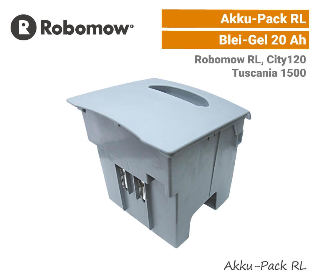 Robomow Akku-Pack RL mit Batterien 20Ah Akku RL City120 Tuscania 1500 EU9