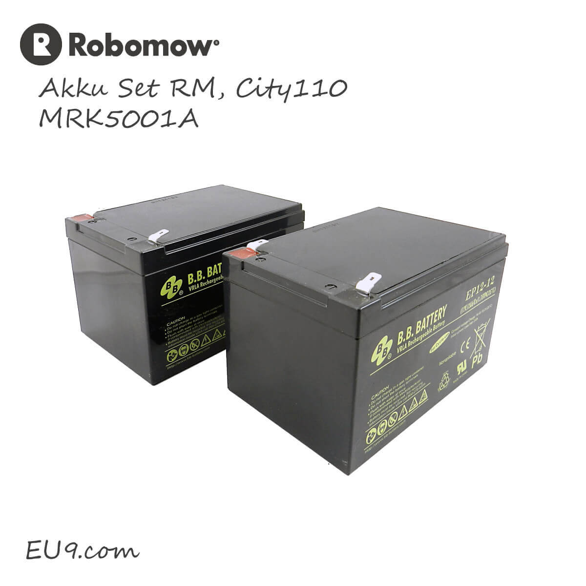 robomow hochleistungsakkus rm city110 eu9 robotics. Black Bedroom Furniture Sets. Home Design Ideas