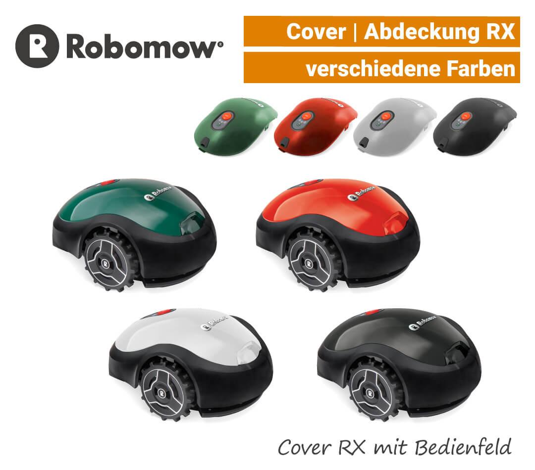 Robomow Cover RX Abdeckung RX mit Bedienfeld Grün Rot Weiß Schwarz