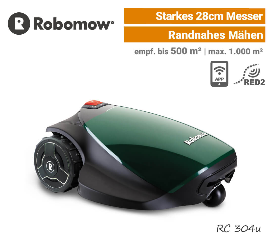 Robomow RC 304 u Mähroboter-Rasenroboter EU9