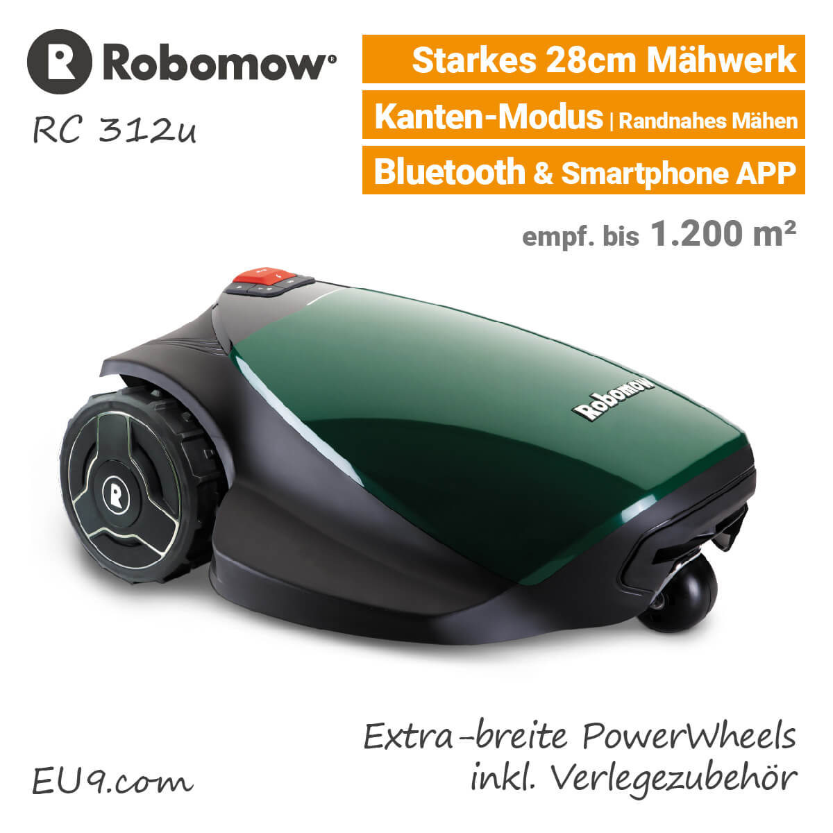 robomow rc 312 pro s rasenroboter mit robohome g nstig kaufen. Black Bedroom Furniture Sets. Home Design Ideas