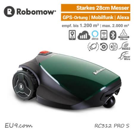 Robomow RC312 PRO S Mähroboter-Rasenroboter GPS Mobilfunk EU9