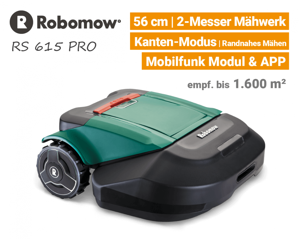 Robomow RS 615 Pro Rasenroboter-Mähroboter EU9