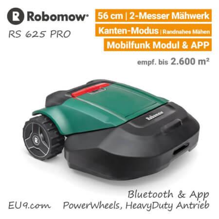 Robomow RS 625 PRO Rasenroboter-Mähroboter EU9