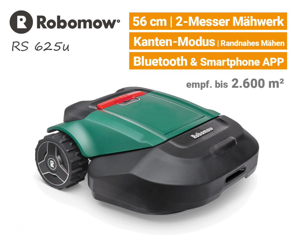 Robomow RS625 u Rasenroboter-Mähroboter EU9