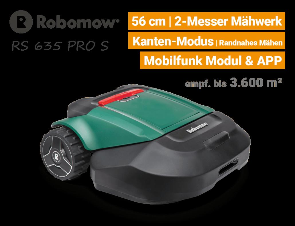 Robomow RS 635 Pro S Rasenroboter-Mähroboter EU9