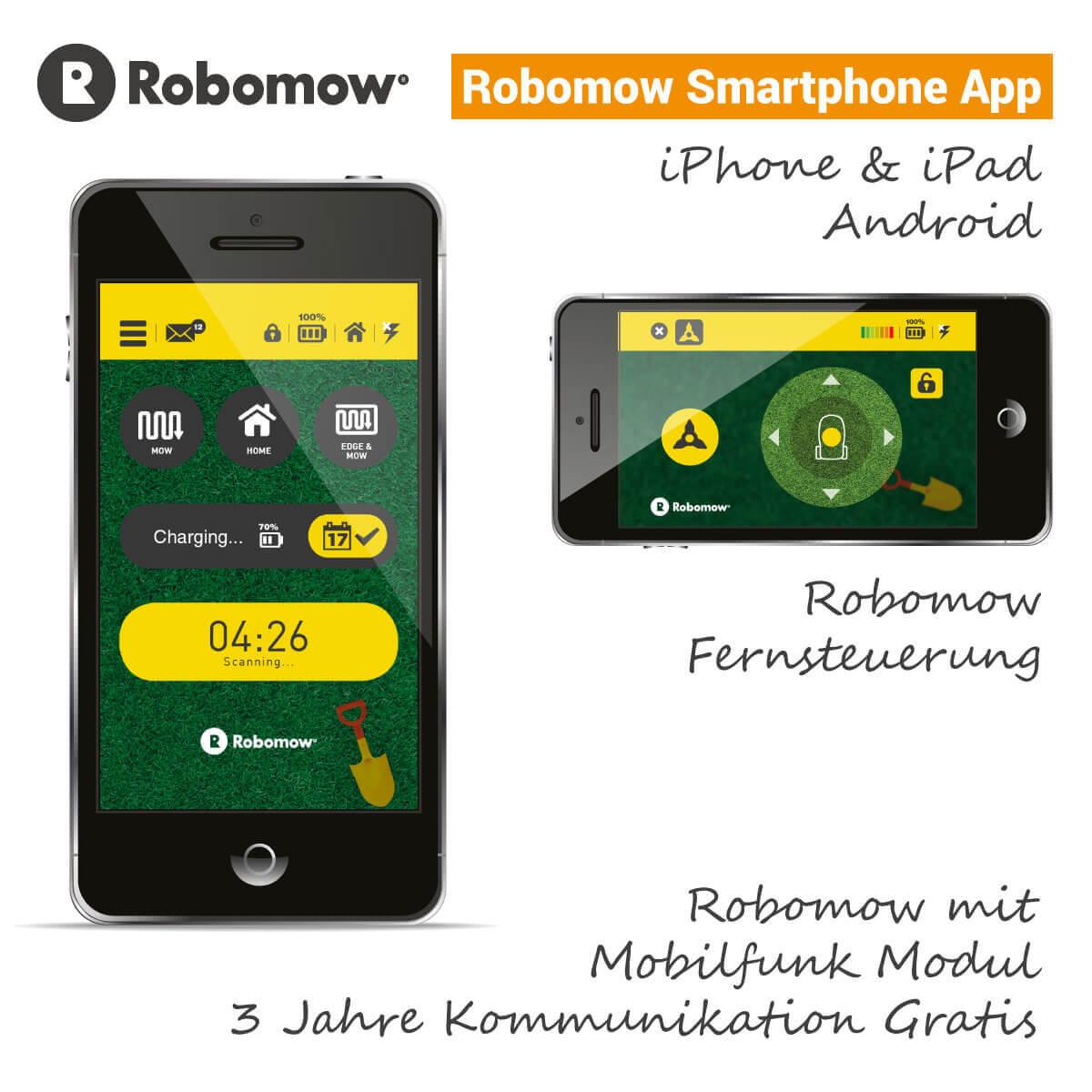 robomow rc 312 pro s rasenroboter mit robohome g nstig kaufen. Black Bedroom Furniture Sets. Home Design Ideas