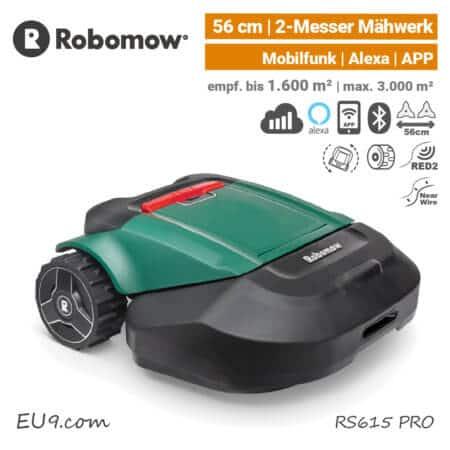 Robomow RS 615 PRO Mähroboter-Rasenroboter Mobilfunk EU9