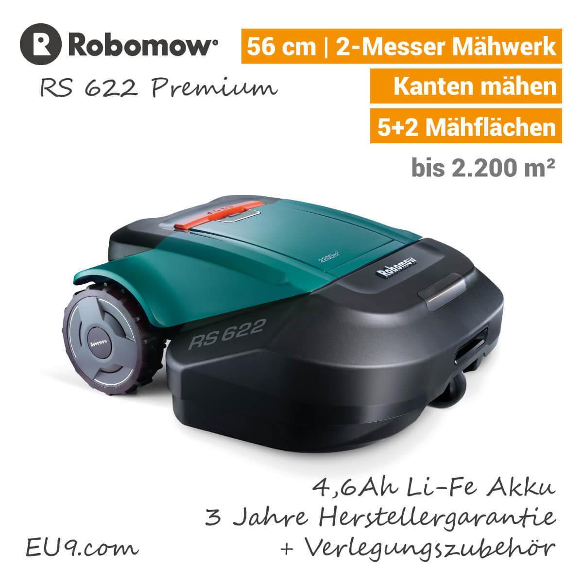 robomow rs622 rasenroboter g nstig kaufen eu9 robotics. Black Bedroom Furniture Sets. Home Design Ideas