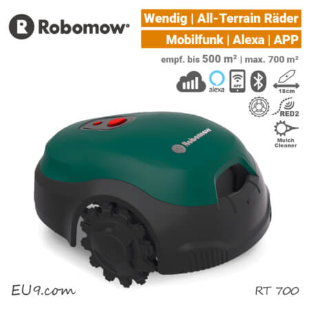 Robomow RT 700 Mähroboter Rasenroboter Mobilfunk Alexa EU9