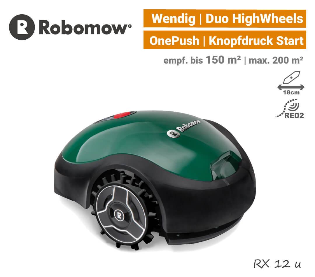 Robomow RX 12 u Mähroboter Rasenroboter APP EU9
