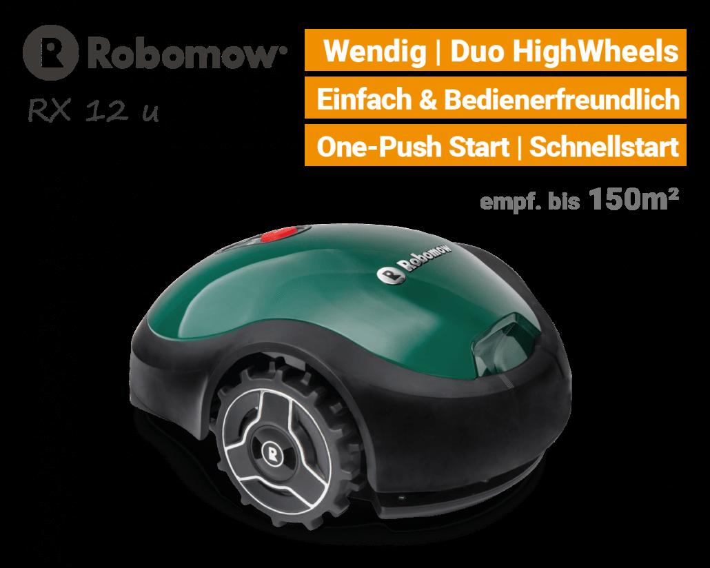 Robomow RX 12 u Rasenroboter-Mähroboter EU9