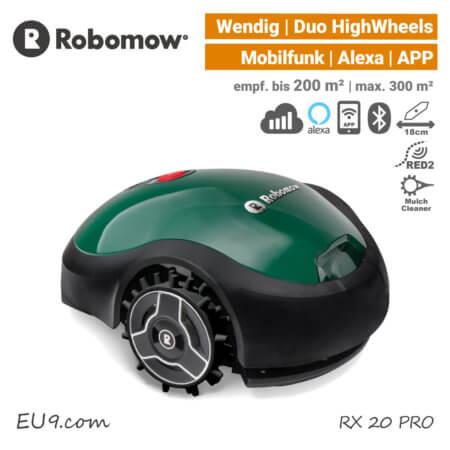 Robomow RX 20 PRO Mähroboter Rasenroboter Mobilfunk Alexa EU9