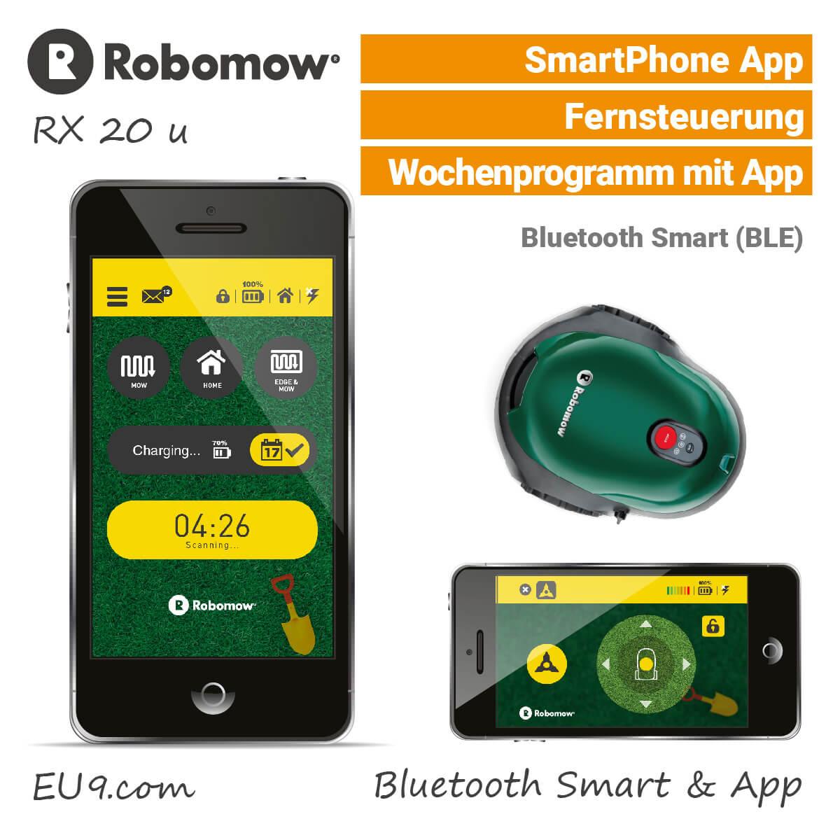 robomow rx20 u rasenroboter m hroboter g nstig kaufen. Black Bedroom Furniture Sets. Home Design Ideas