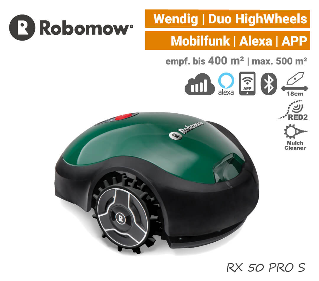 Robomow RX 50 PRO S Mähroboter Rasenroboter Mobilfunk Alexa EU9