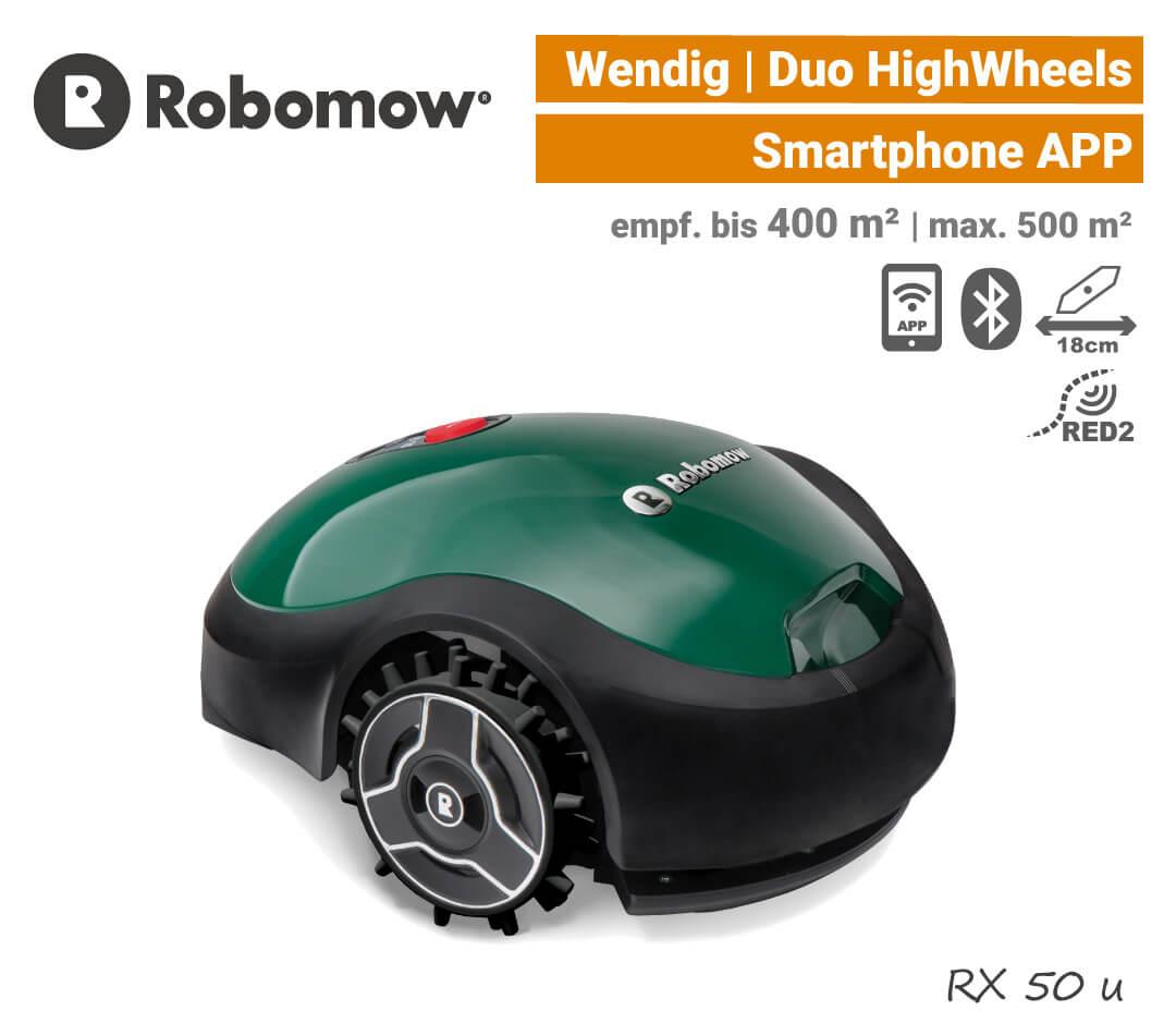 Robomow RX 50 u Mähroboter Rasenroboter APP EU9