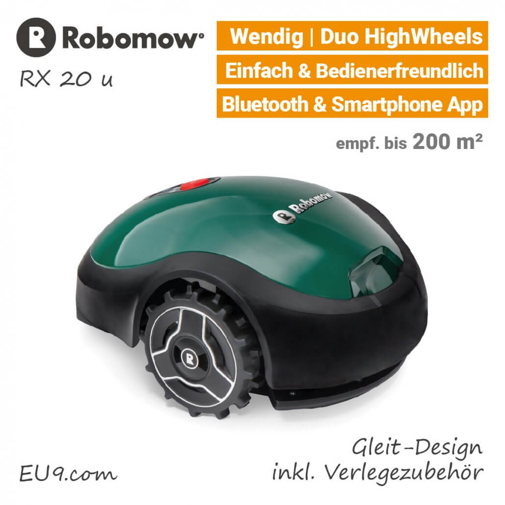 Robomow RX20 u Rasenroboter-Mähroboter EU9
