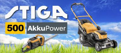STIGA 500 Akku-Rasenmäher Gartengeräte Synchron EU9