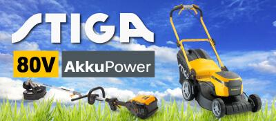 STIGA 80V Akku-Rasenmäher Gartengeräte 80 Volt EU9