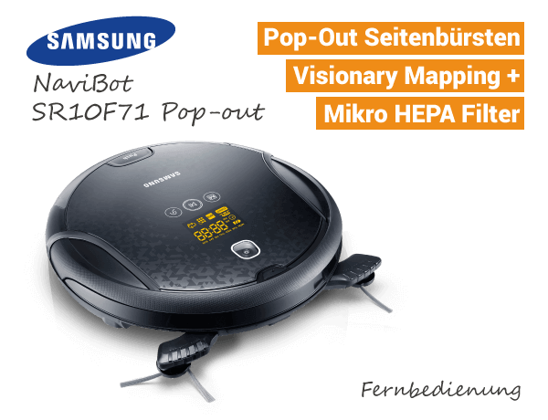 Samsung NaviBot SR10F71 Pop-out Saugroboter
