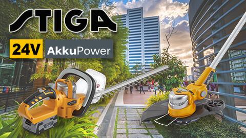 Stiga 24V Akku-Gartengeräte 24 Volt 24V AkkuPower EU9