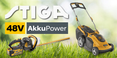 Stiga 48V Akku-Rasenmäher Akku-Heckenscheren Akku-Trimmer 48 Volt EU9