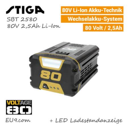 Stiga 80V 2,5Ah SBT-2580 Akku System