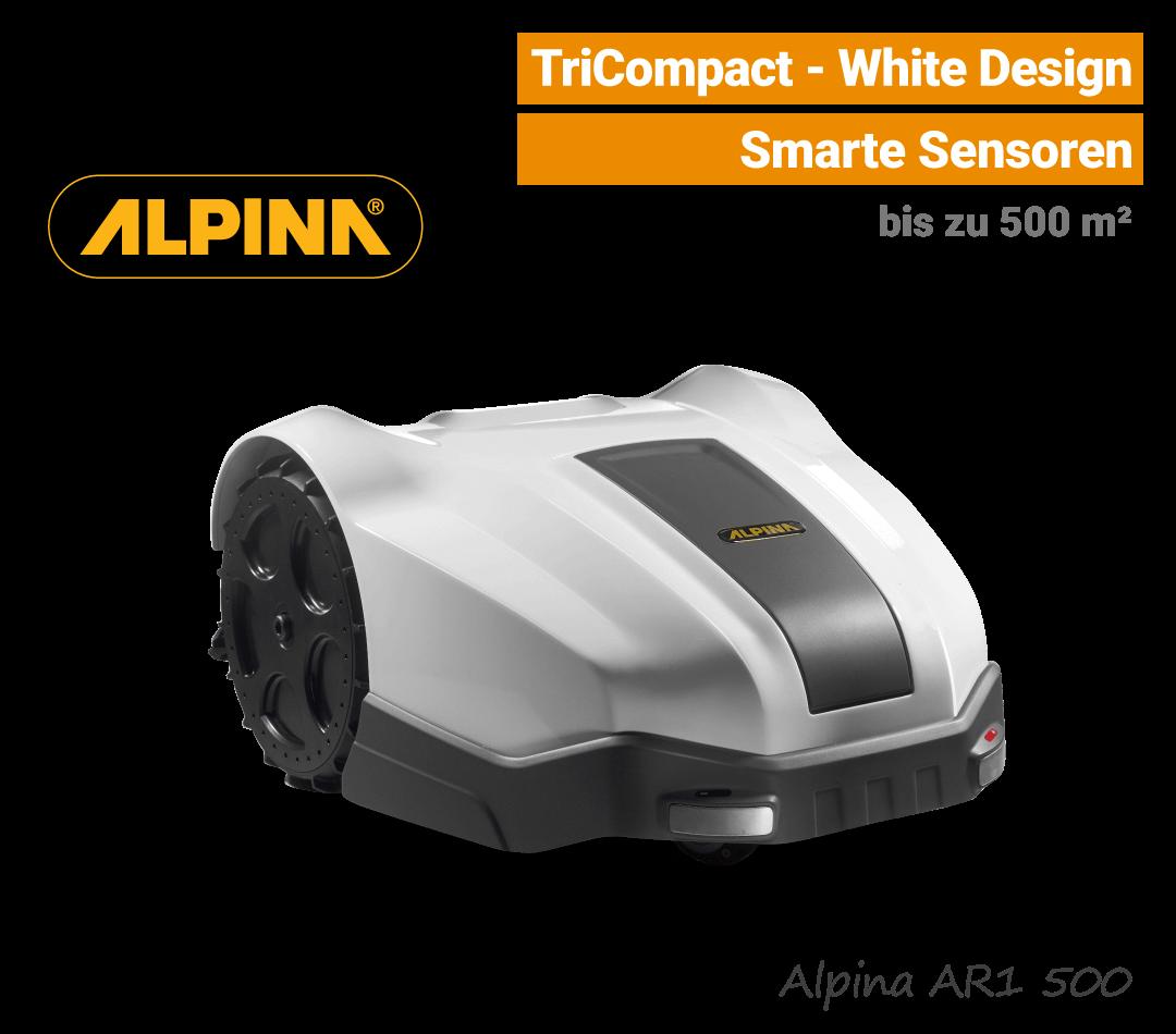 Stiga-Alpina AR1 500 Mähroboter white-weiß Aktion EU9