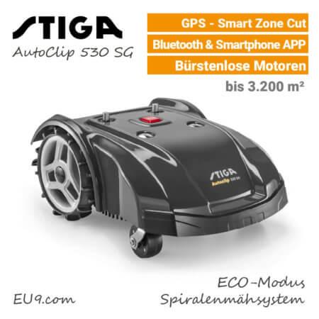 Stiga AutoClip 530 SG GPS Mähroboter EU9