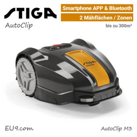 Stiga AutoClip M3 Mähroboter-Rasenroboter EU9