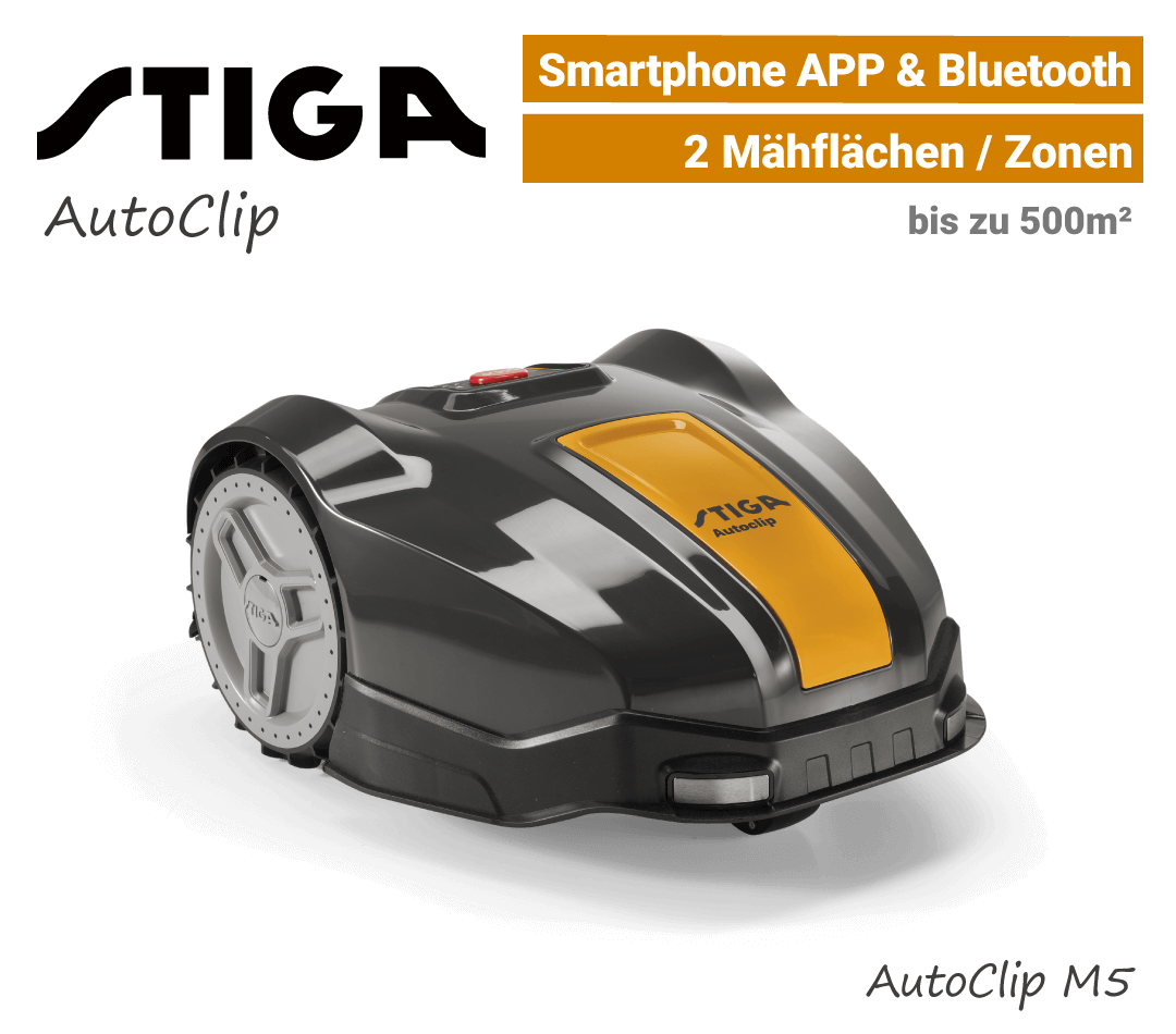 Stiga AutoClip M5 Mähroboter-Rasenroboter EU9