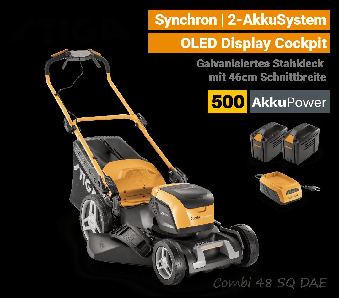 Stiga Combi 48 SQ DAE Akku-Rasenmäher Radantrieb Synchron 500 EU9