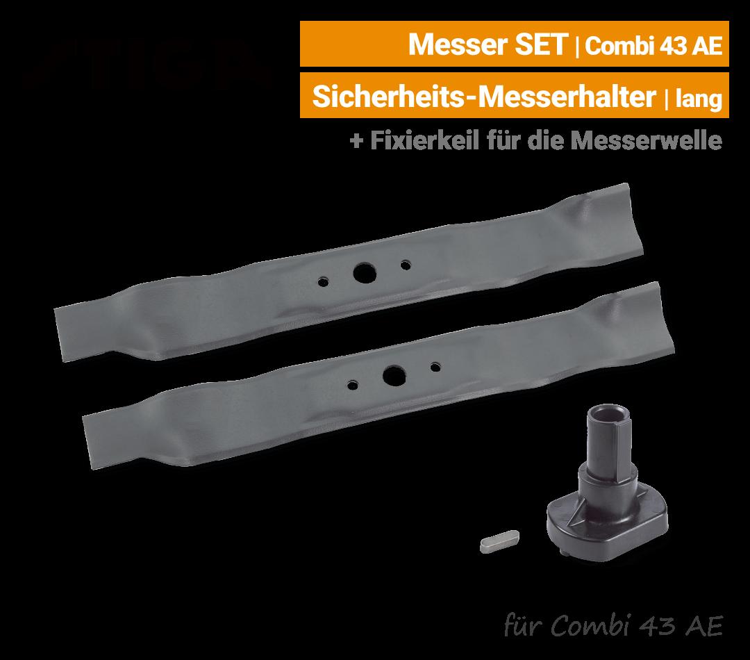 Stiga Messer Combi 43 AE Ersatzmesser mit Messerhalter lang 80V EU9