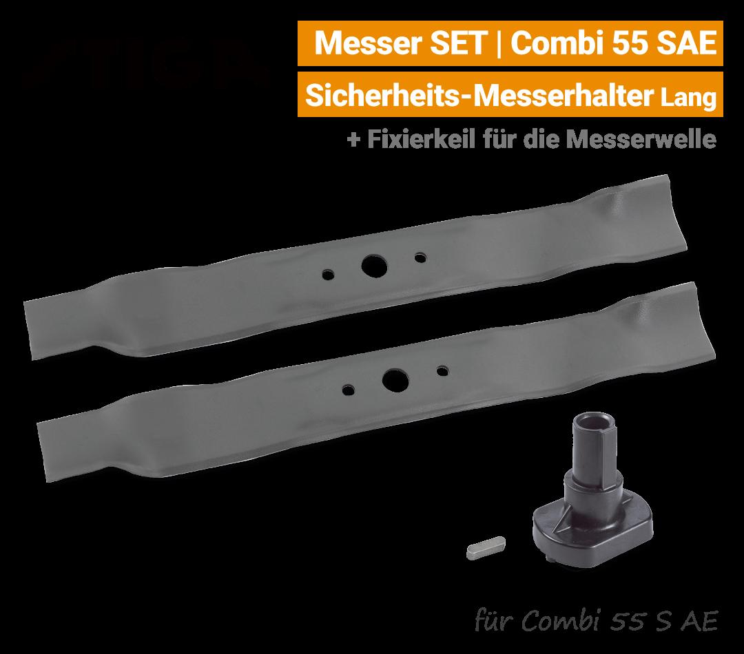 Stiga Messer Combi 55 S AE mit Messerhalter lang Ersatzmesser 80V EU9