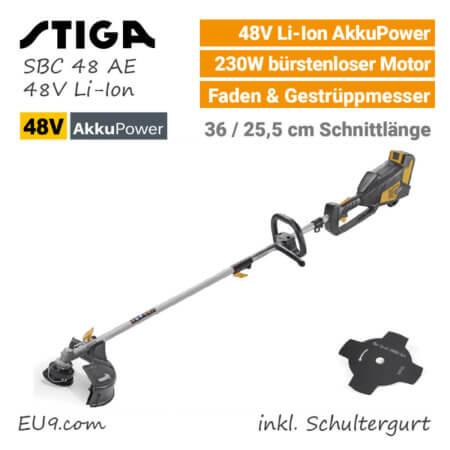 Stiga SBC 48 AE 48V Akku-Motosense Akku-Trimmer 48 Volt EU9