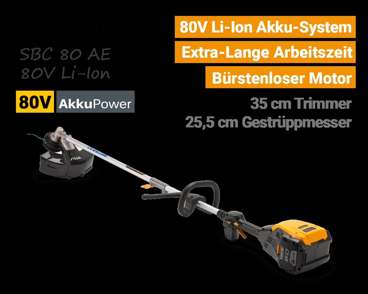 Stiga SBC 80 AE 80V Akku Trimmer Motorsense 80 Volt EU9