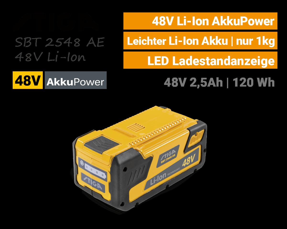 Stiga SBT 2548 AE 48V Li-Ion Akku 48-Volt EU9