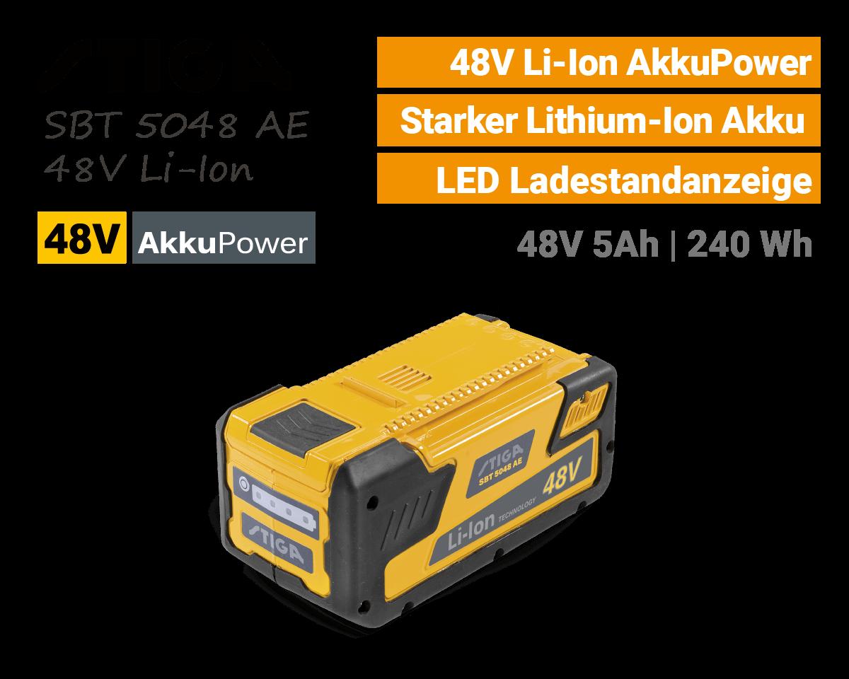Stiga SBT 5048 AE 48V Li-Ion Akku 48-Volt EU9