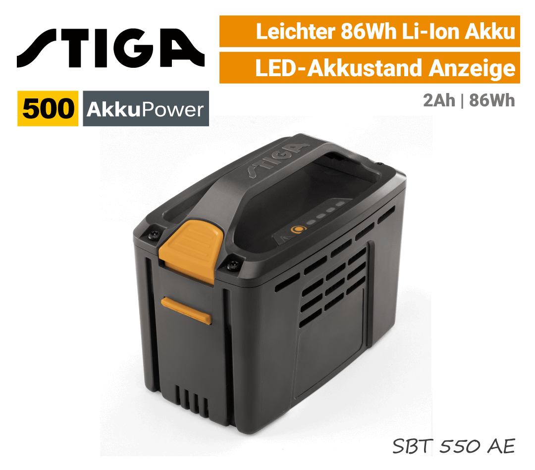 Stiga SBT-520 Akku 2Ah 500 AkkuPower EU9