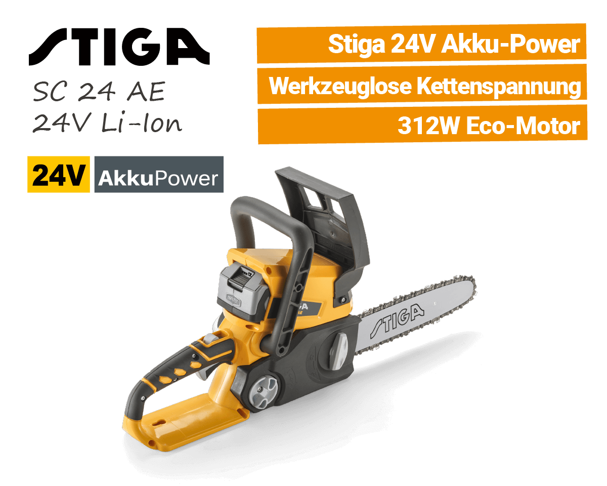 Stiga SC 24 AE 24V Akku Kettensäge EU9