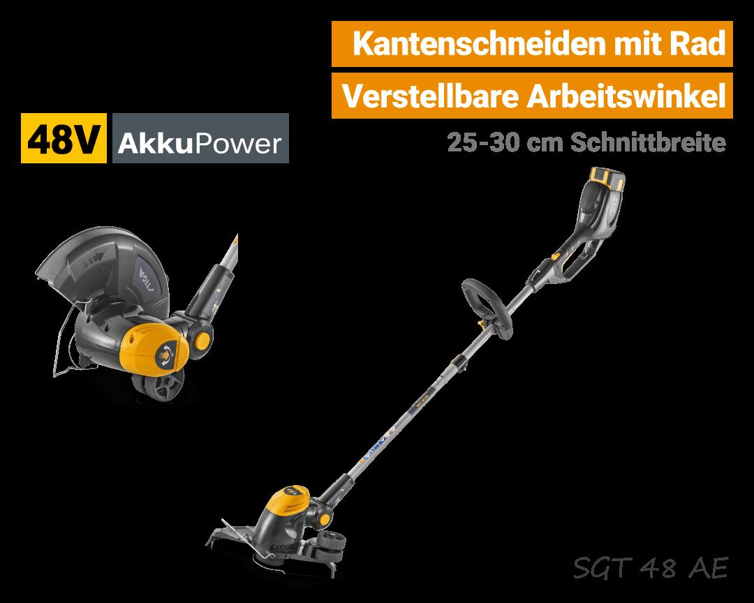 Stiga SGT 48 AE 48V Akku-Trimmer 48 Volt Kanten-schneiden EU9