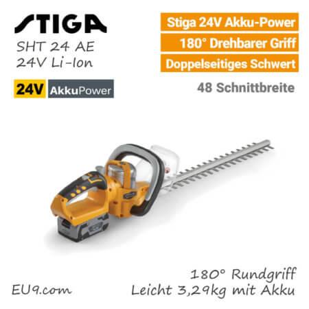 Stiga SHT 24 AE 24V Akku-Heckenschere EU9