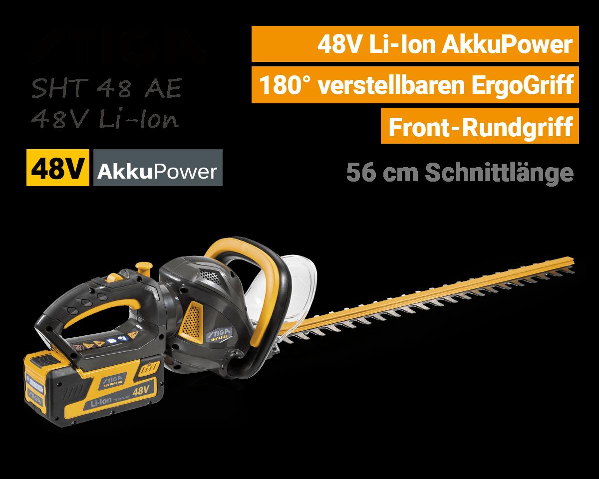 Stiga SHT 48 AE 48V Akku-Heckenschere 48 Volt EU9
