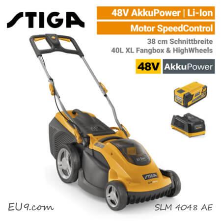 Stiga SLM 4048 AE 48V Akku-Rasenmäher 48 Volt 3-in-1 EU9