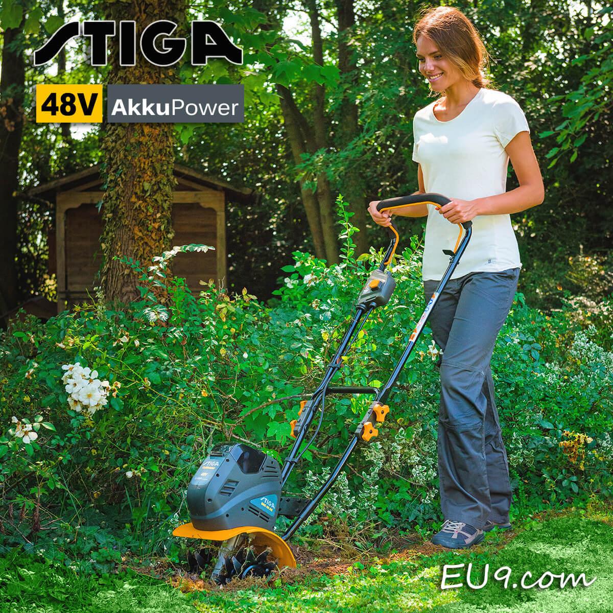 stiga src 48 ae 48v akku-motorhacke - 48 volt | günstig bei eu9 kaufen!