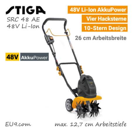 Stiga SRC 48 AE 48V Akku-Motorhacke Akku-Kultivator 48 Volt EU9